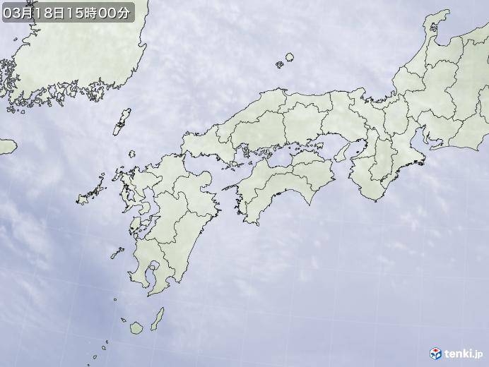実況天気図(2019年03月18日)