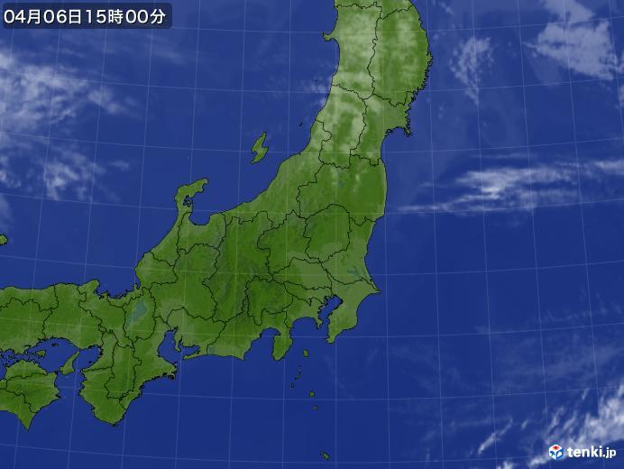 実況天気図(2019年04月06日)