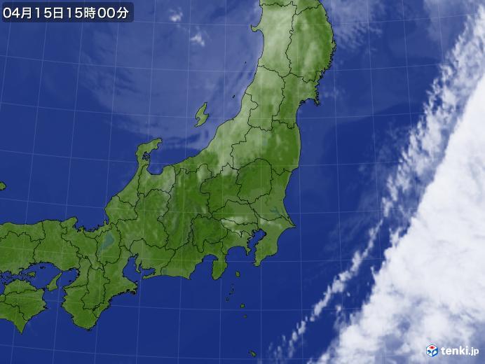実況天気図(2019年04月15日)