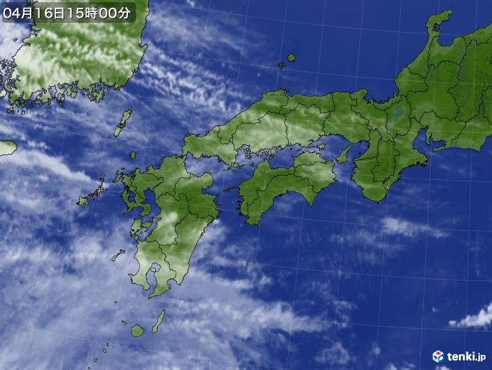 実況天気図(2019年04月16日)