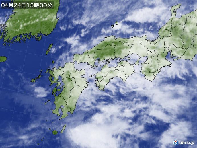 実況天気図(2019年04月24日)