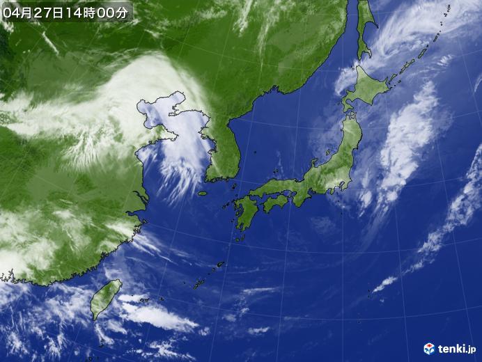 過去の気象衛星(日本付近)(2019年04月27日) - 日本気象協会 tenki.jp