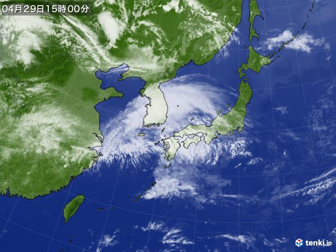 実況天気図(2019年04月29日)