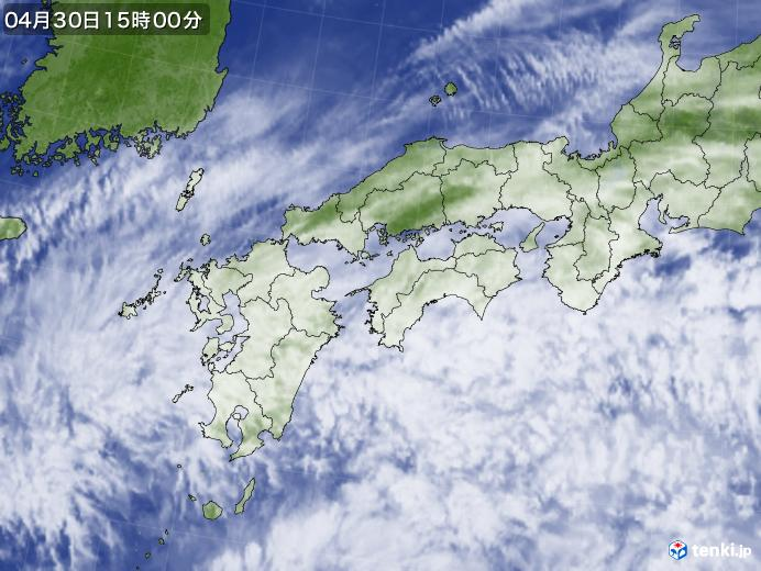 実況天気図(2019年04月30日)