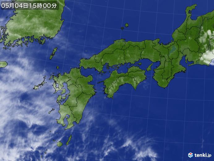 実況天気図(2019年05月04日)