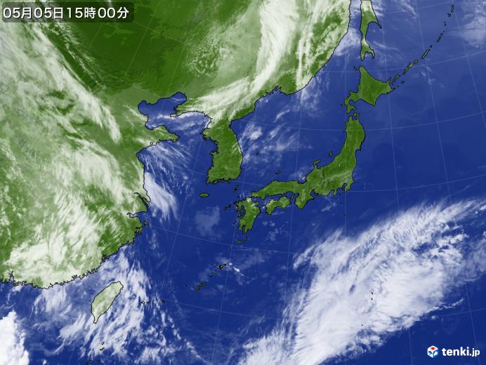 実況天気図(2019年05月05日)