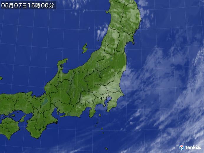 実況天気図(2019年05月07日)