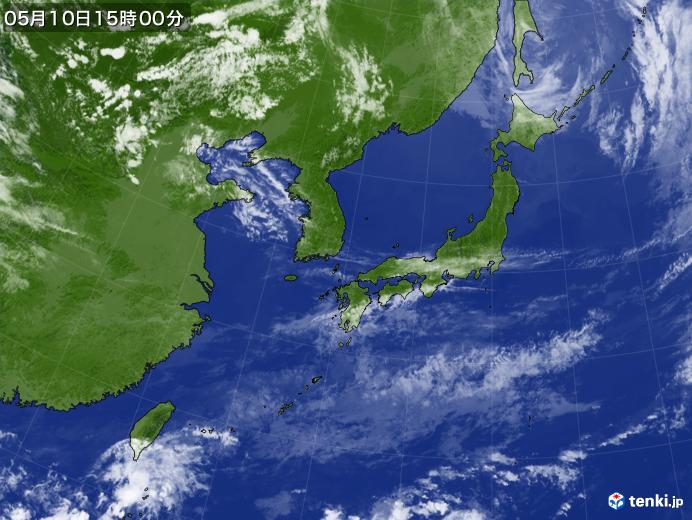 実況天気図(2019年05月10日)