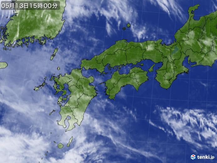 実況天気図(2019年05月13日)