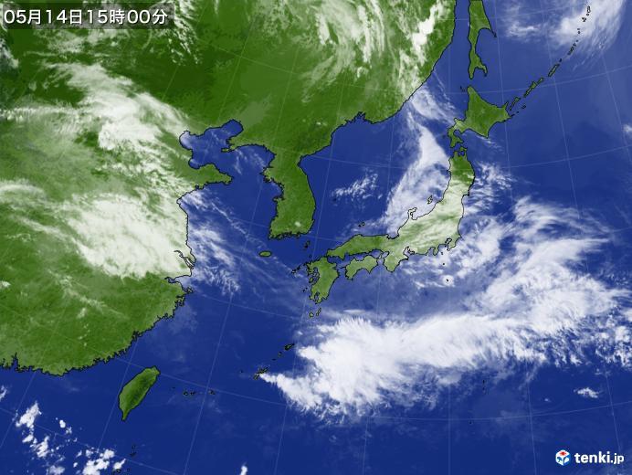 実況天気図(2019年05月14日)