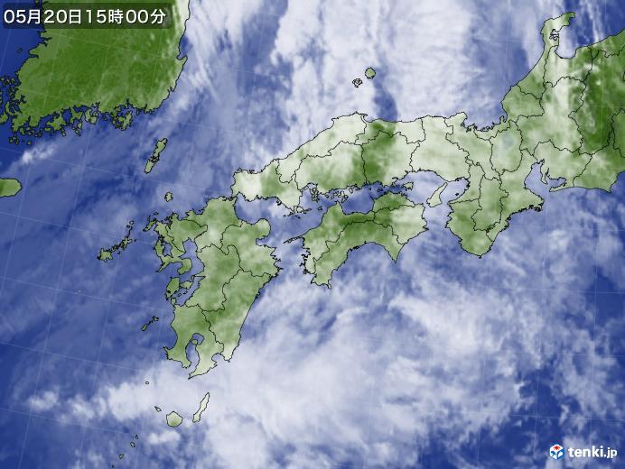 実況天気図(2019年05月20日)