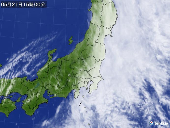 実況天気図(2019年05月21日)