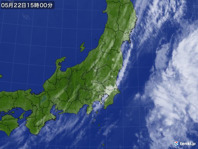 実況天気図(2019年05月22日)