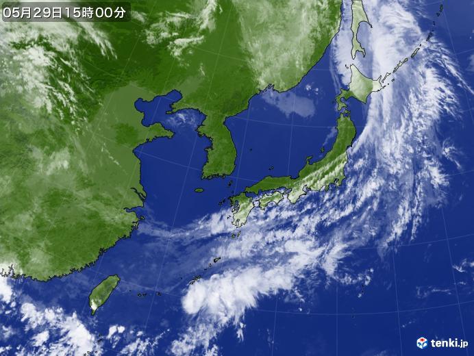 実況天気図(2019年05月29日)