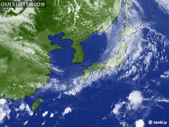 実況天気図(2019年05月31日)