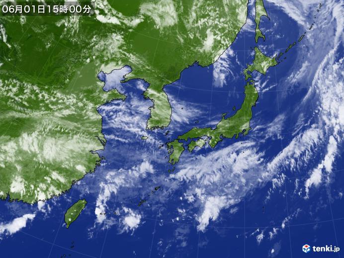実況天気図(2019年06月01日)