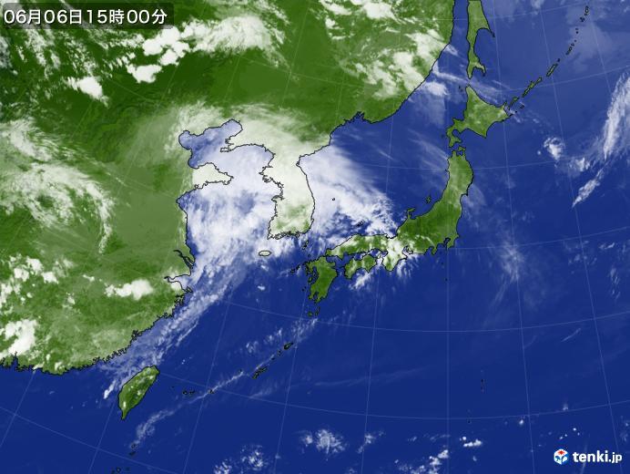 実況天気図(2019年06月06日)