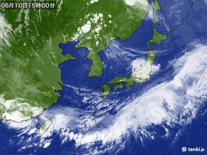 実況天気図(2019年06月10日)
