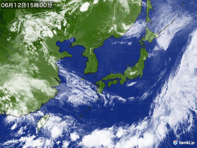 実況天気図(2019年06月12日)