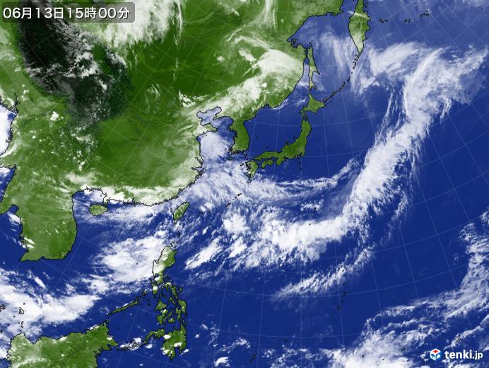 実況天気図(2019年06月13日)