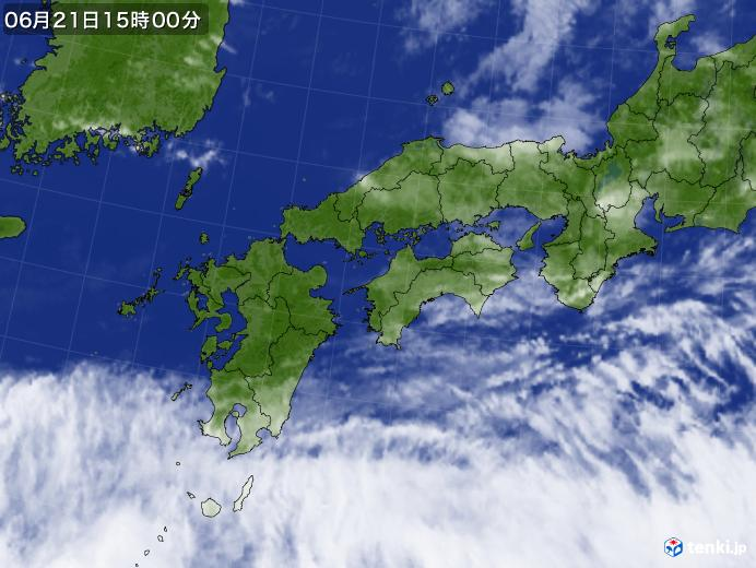 実況天気図(2019年06月21日)