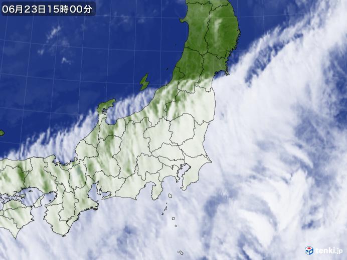 実況天気図(2019年06月23日)