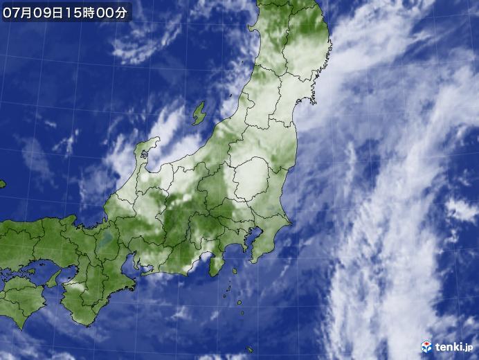 実況天気図(2019年07月09日)