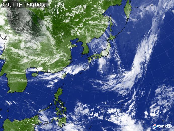 実況天気図(2019年07月11日)