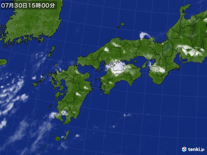 実況天気図(2019年07月30日)