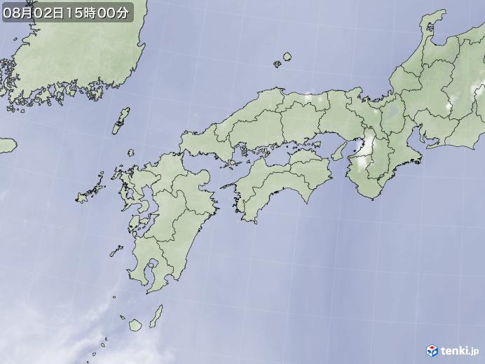 実況天気図(2019年08月02日)