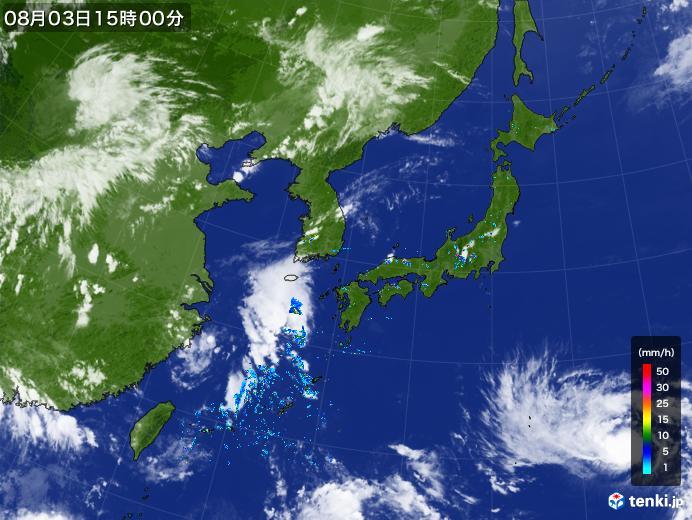 実況天気図(2019年08月03日)