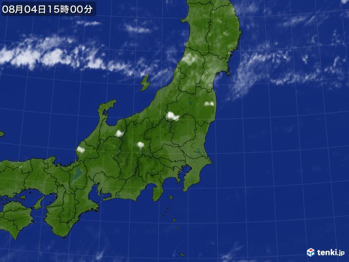 実況天気図(2019年08月04日)