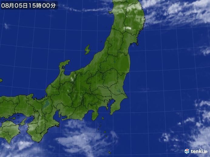 実況天気図(2019年08月05日)
