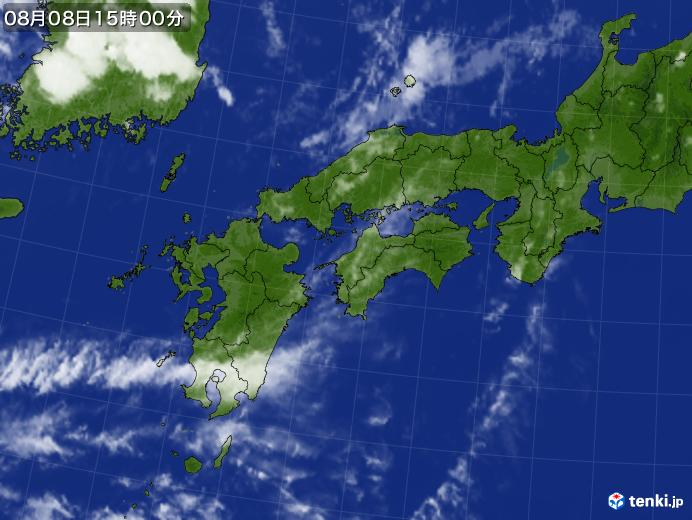 実況天気図(2019年08月08日)