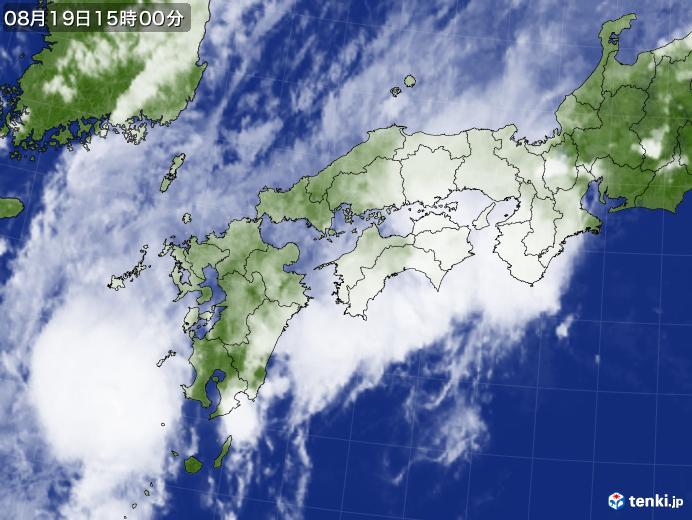 実況天気図(2019年08月19日)