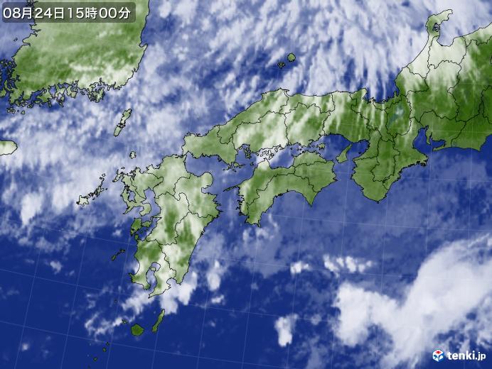 実況天気図(2019年08月24日)