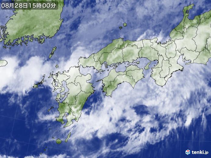 実況天気図(2019年08月28日)