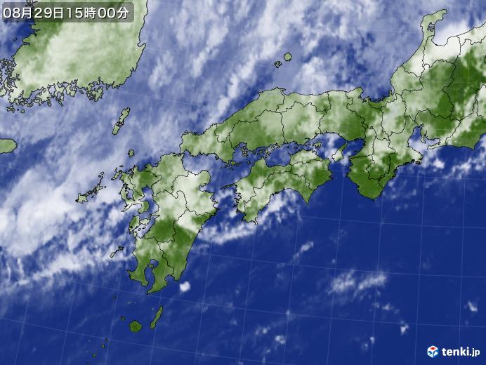 実況天気図(2019年08月29日)