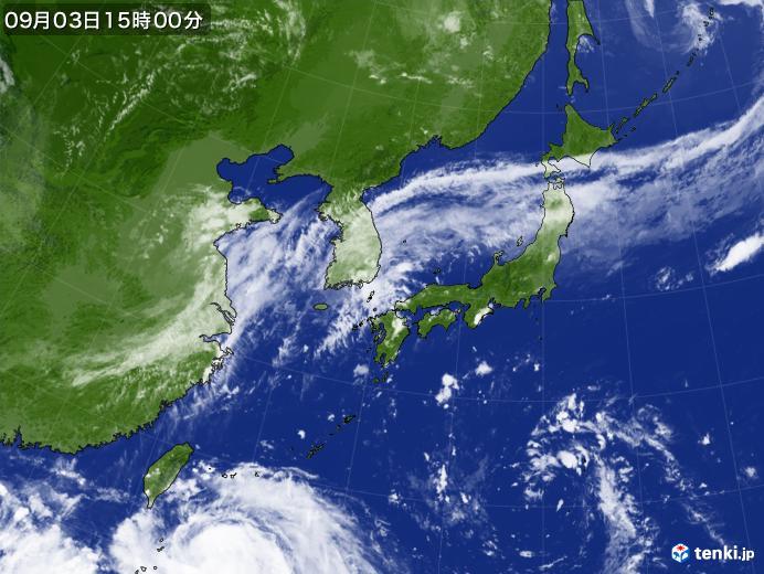 実況天気図(2019年09月03日)