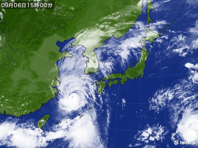 実況天気図(2019年09月06日)