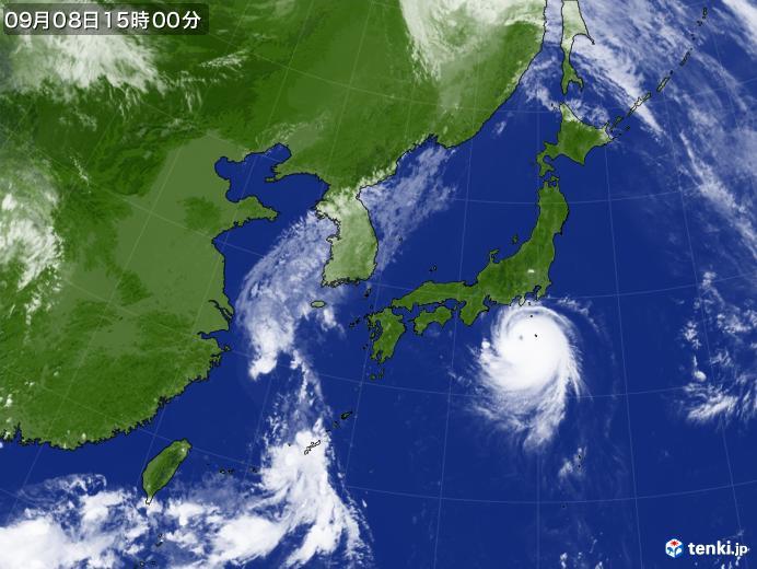 実況天気図(2019年09月08日)