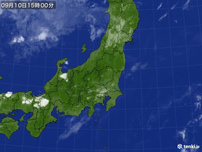 実況天気図(2019年09月10日)