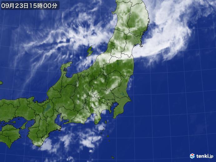 実況天気図(2019年09月23日)