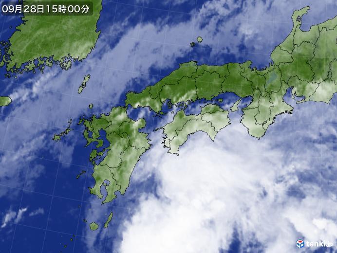 実況天気図(2019年09月28日)