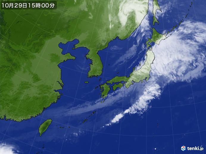 実況天気図(2019年10月29日)