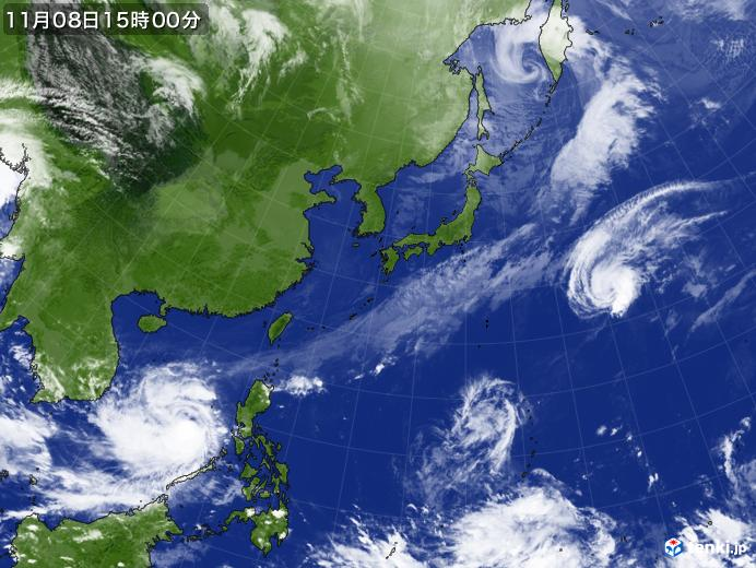 実況天気図(2019年11月08日)