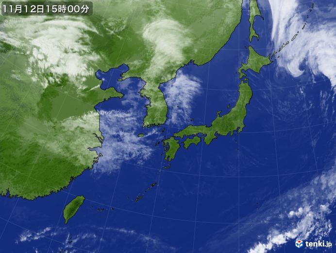 実況天気図(2019年11月12日)