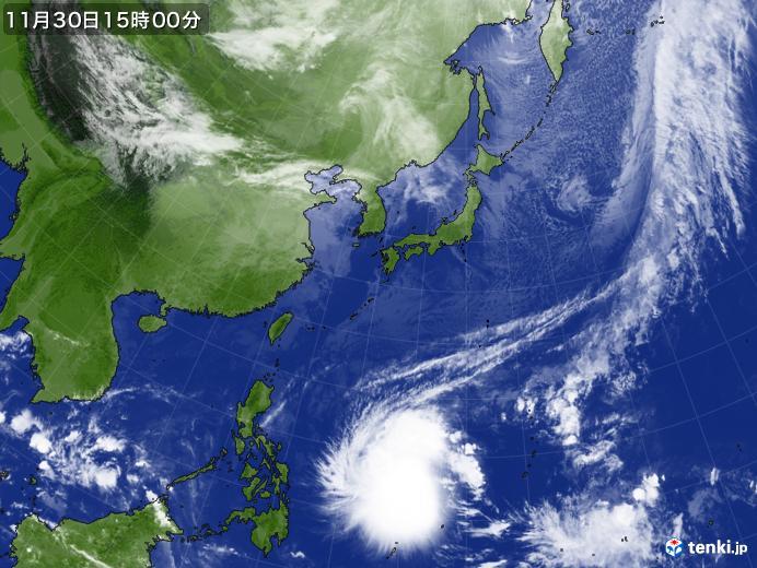 実況天気図(2019年11月30日)