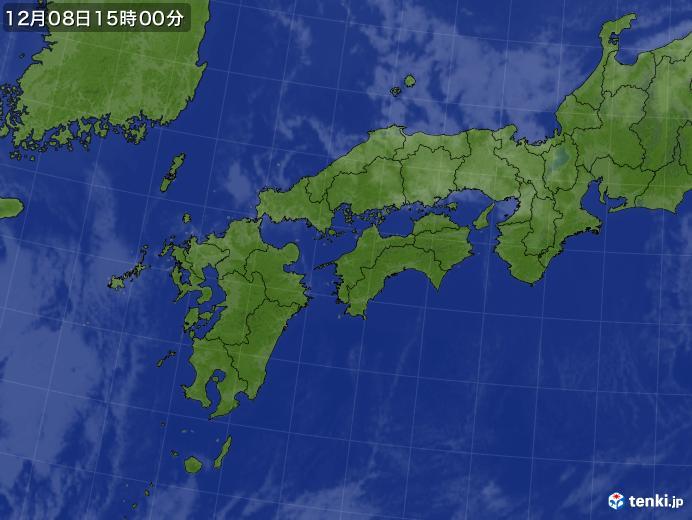 実況天気図(2019年12月08日)