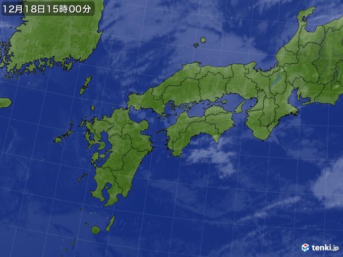 実況天気図(2019年12月18日)